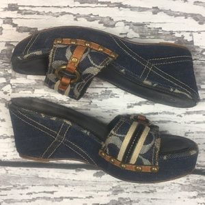 Coach Shoes - Coach 'Ellice' Wedge Denim Shoes - Size 7.5